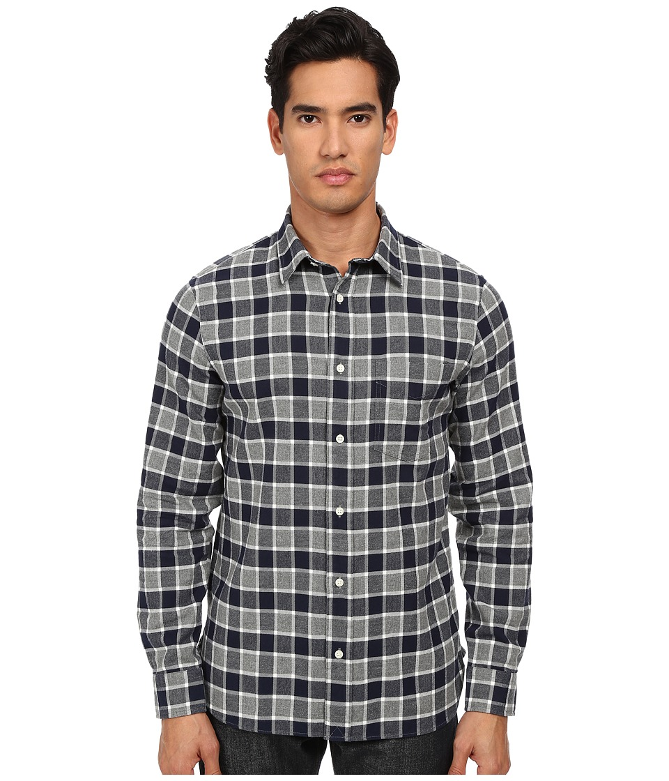 Jack Spade - Amherst Buffalo Plaid Shirt (Navy) Men's Long Sleeve Button Up