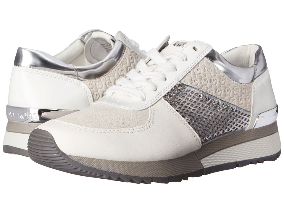 MICHAEL Michael Kors - Allie Trainer (Optic White/Silver) Women's Lace up casual Shoes