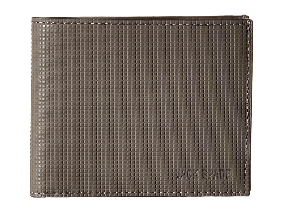 Jack Spade - Varick Leather Slim Billfold (Grey) Bill-fold Wallet