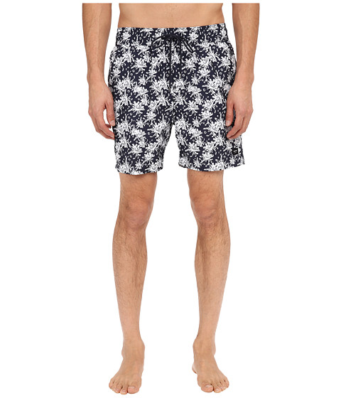 Jack Spade - Tropical Floral Grannis Swim Trunks (Navy) Men's Swimwear