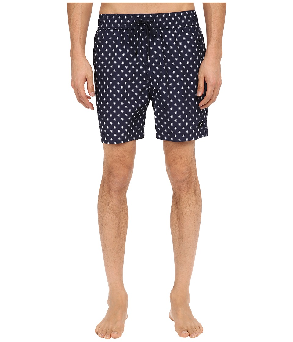 Jack Spade - Mini Tree Grannis Swim Trunks (Navy) Men's Swimwear