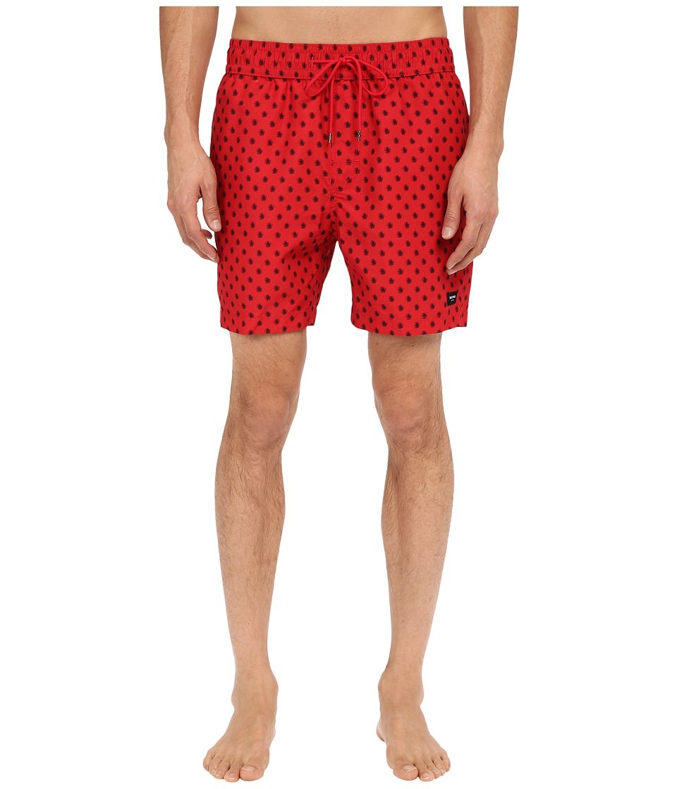 Jack Spade - Mini Tree Grannis Swim Trunks (Red) Men's Swimwear