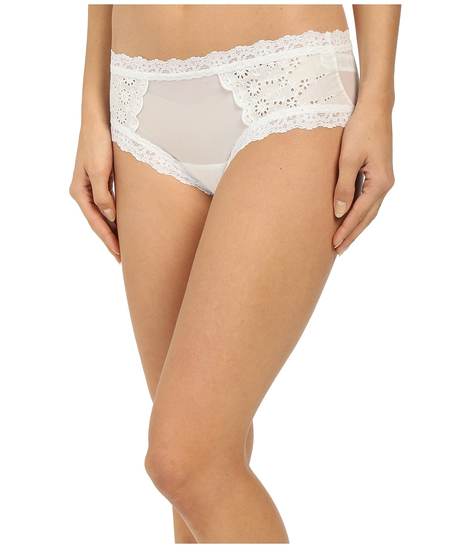 Hanky Panky - Eyelet Cheeky Hipster (White) Women's Underwear