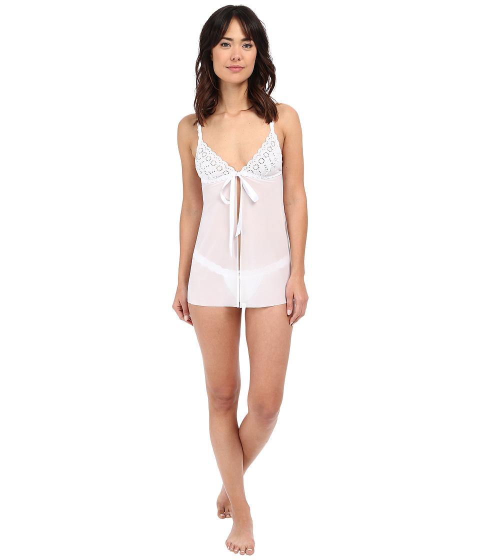 Hanky Panky - Eyelet Flyaway Babydoll (White) Women's Underwear