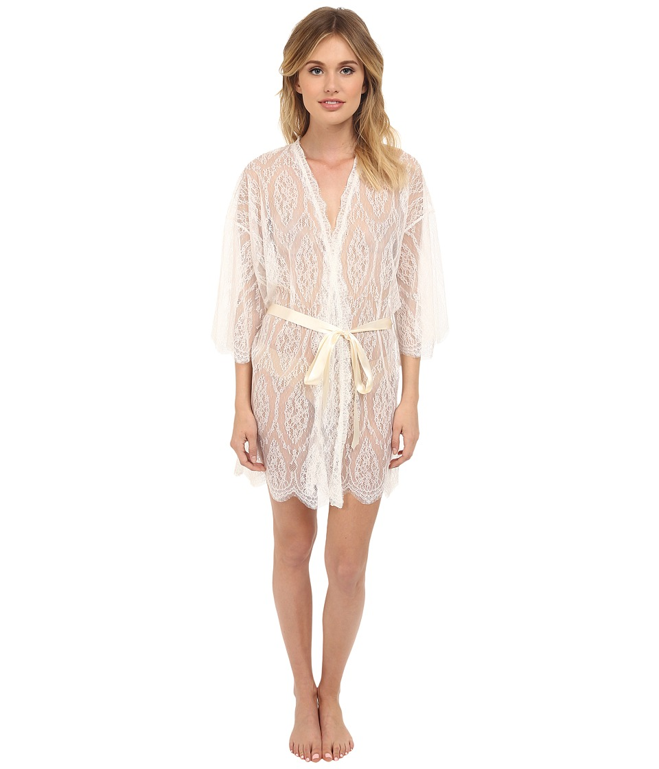 Hanky Panky - Lace Robe (Light Ivory) Women's Robe