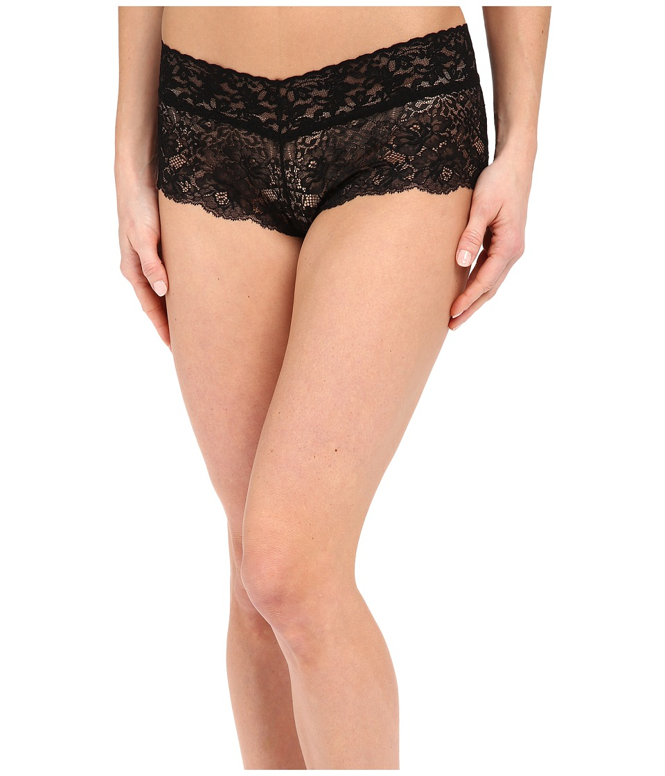 Hanky Panky - Luscious Rose Boyshorts (Black) Women's Underwear