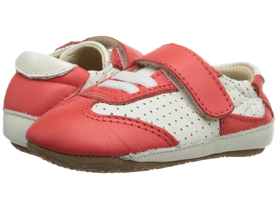 Old Soles - Spirit Jogger (Infant/Toddler) (White/Bright Red) Boy's Shoes