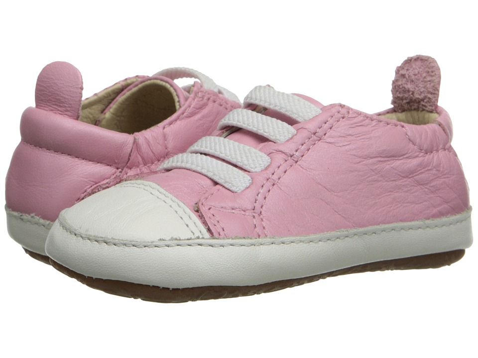 Old Soles - Eazy Jogger (Infant/Toddler) (Pearlised Pink/White) Girl's Shoes