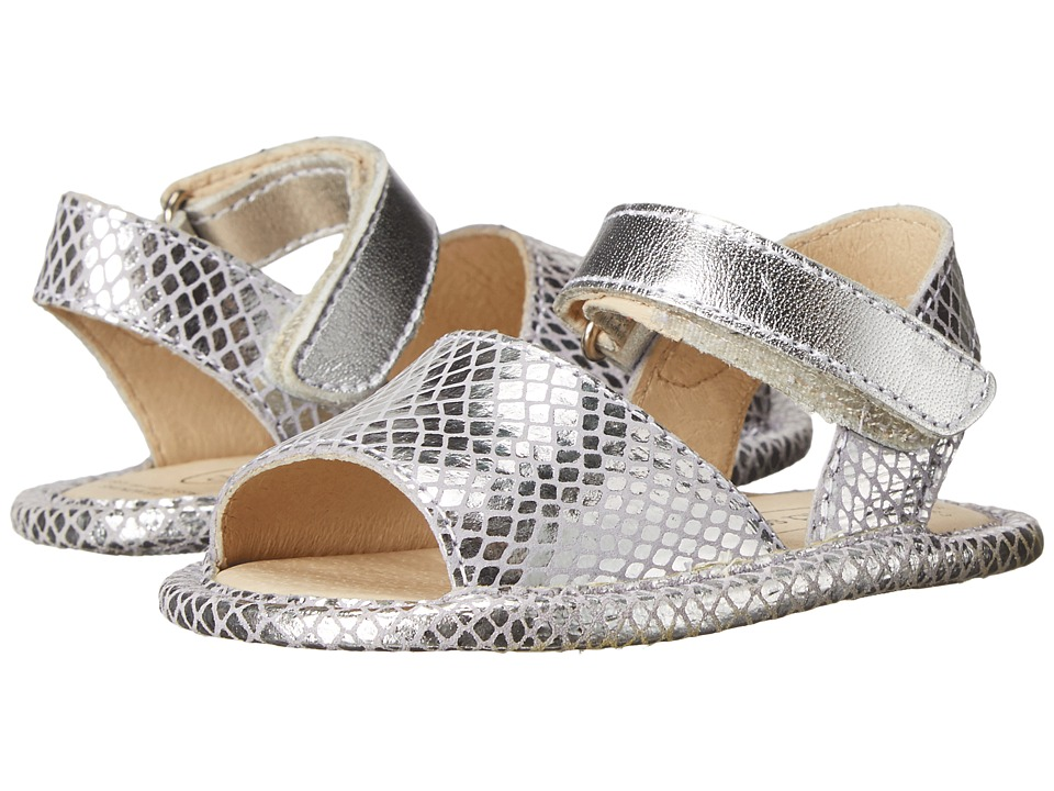 Old Soles - Sandal Up (Infant/Toddler) (Lavender Snake/Silver) Girl's Shoes