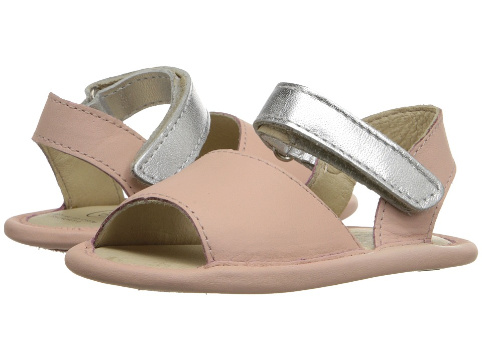 Old Soles - Sandal Up (Infant/Toddler) (Powder Pink/Silver) Girl's Shoes