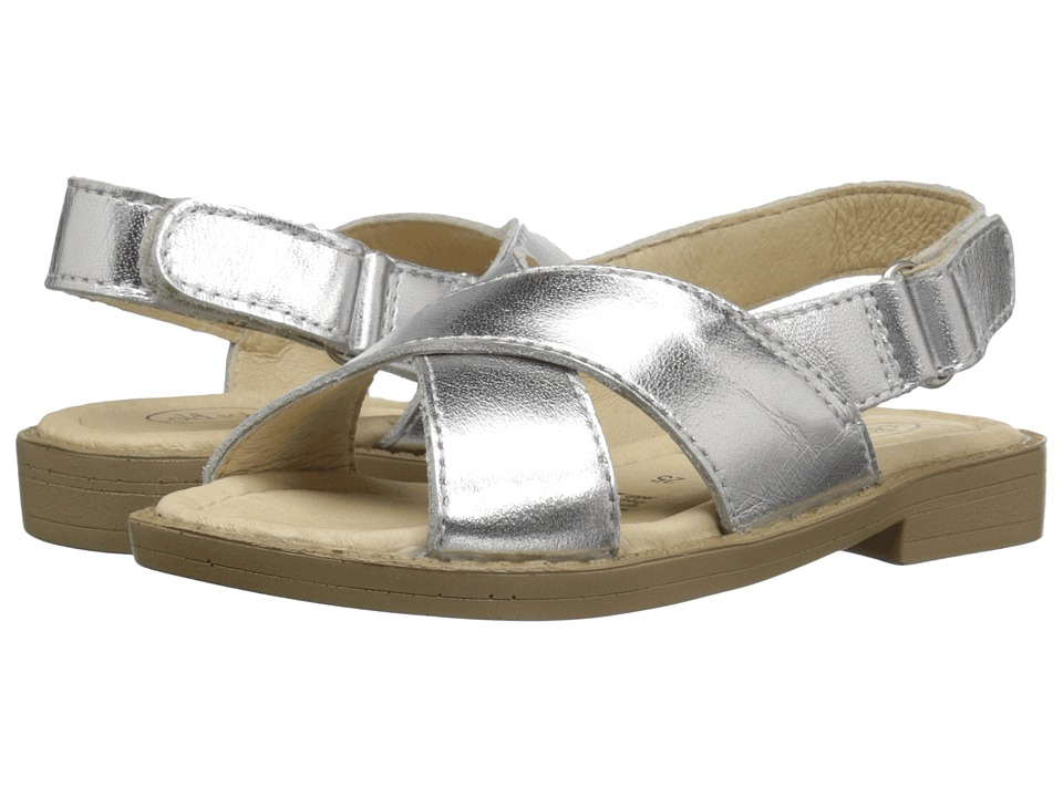 Old Soles - Flavour Sandal (Toddler/Little Kid) (Silver) Girl's Shoes