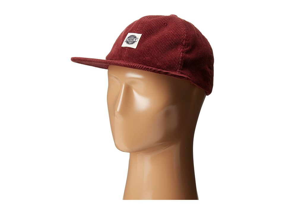 Obey - Murphy Hat (Burgundy) Caps