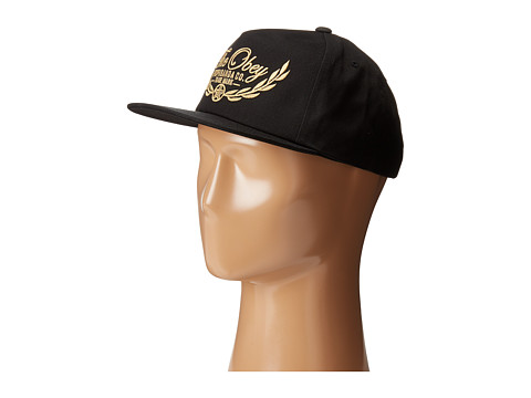 Obey - Wreath Snapback (Black) Caps