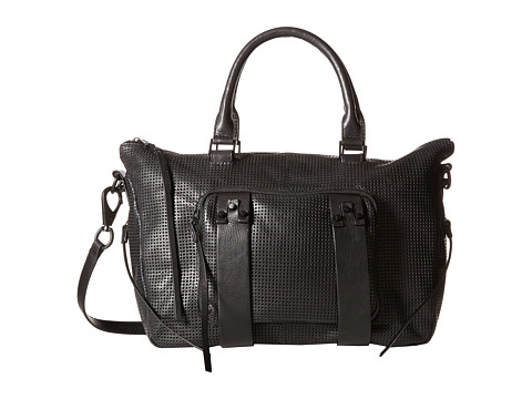 She + Lo - Next Chapter Satchel (Black Perf/Black Hardware) Satchel Handbags