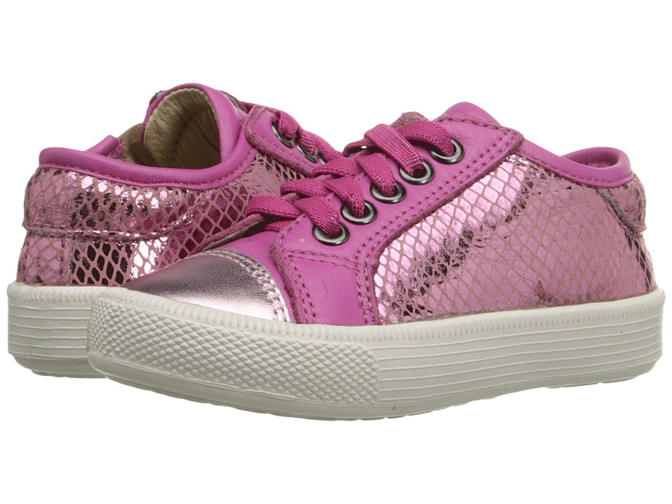 Old Soles - Glam Jogger (Toddler/Little Kid) (Pink Snake/Pink Frost/Fuchsia) Girl's Shoes