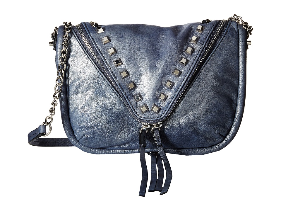 She + Lo - Breakthrough Zip Crossbody (Navy Metal) Cross Body Handbags