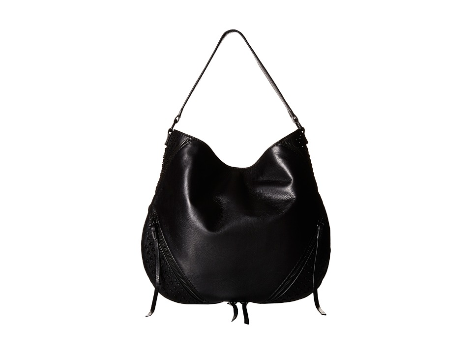 She + Lo - Rise Above Studded Hobo (Black) Hobo Handbags