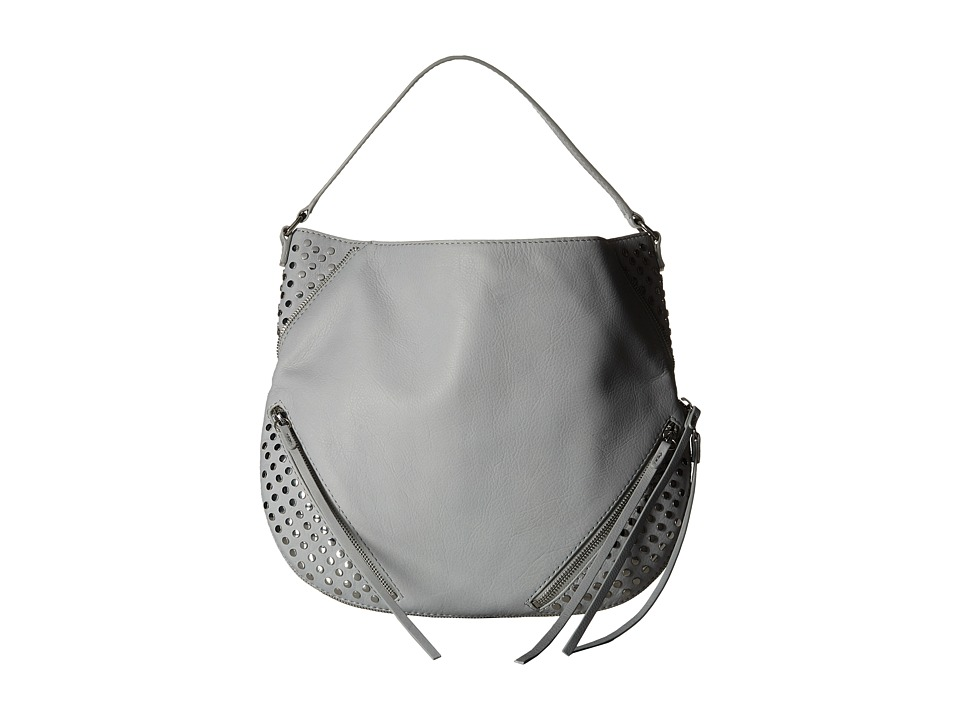 She + Lo - Rise Above Studded Hobo (Grey) Hobo Handbags