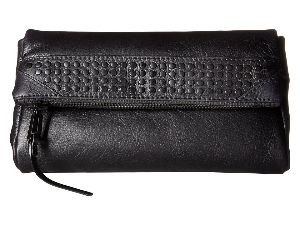 She + Lo - Rise Above Studded Clutch (Black) Clutch Handbags