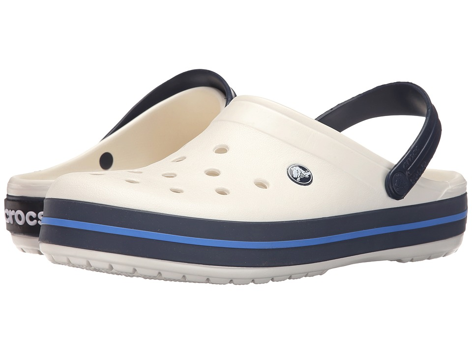 Crocs - Crocband (Oyster/Navy) Clog Shoes