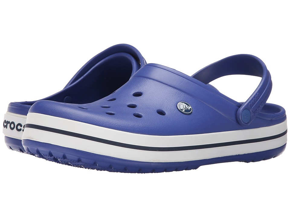 Crocs - Crocband (Cerulean Blue/Navy) Clog Shoes