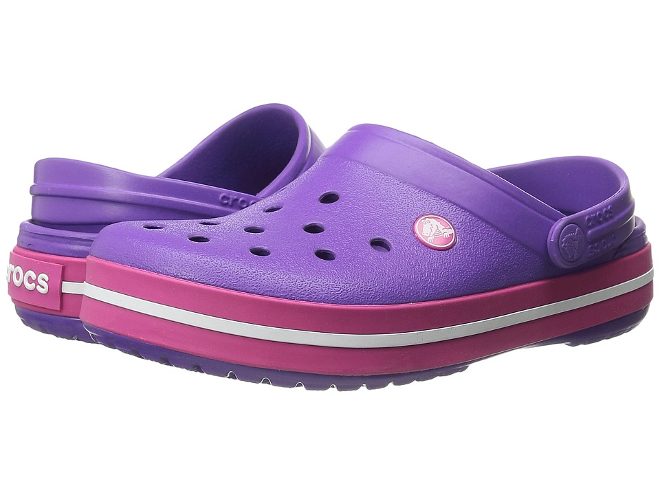 Crocs - Crocband (Neon Purple/Candy Pink) Clog Shoes