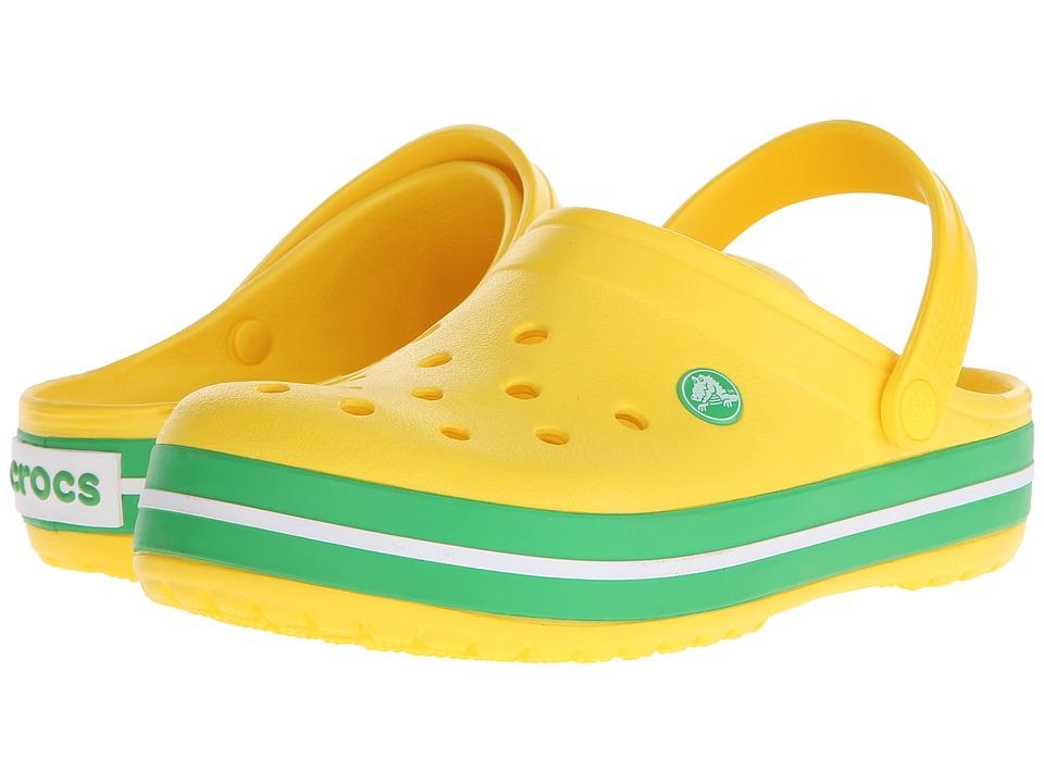 Crocs Crocband Clog (Lemon/Greass Green) Clog Shoes