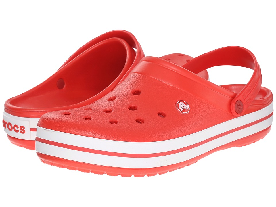 Crocs - Crocband (Flame/White) Clog Shoes