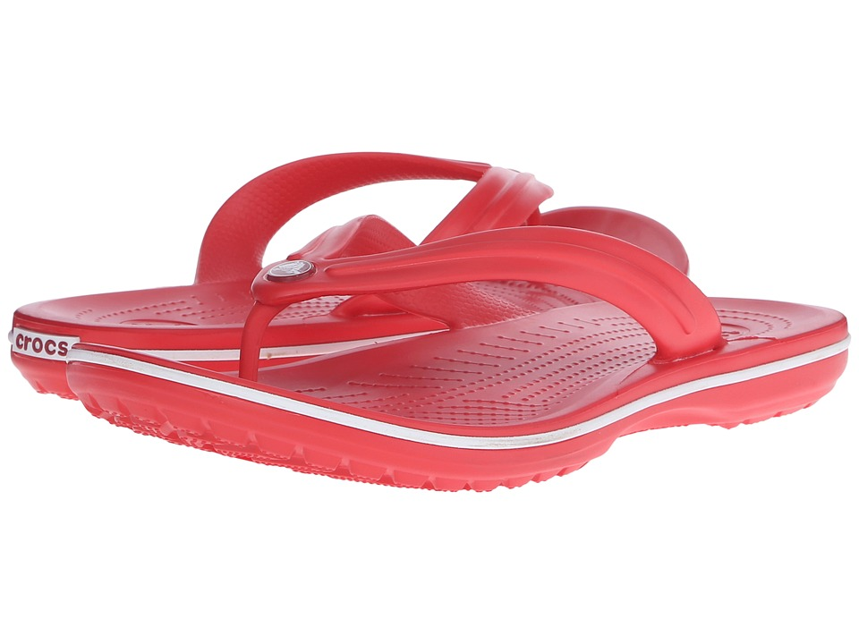 Crocs - Crocband Flip (Flame/White) Shoes