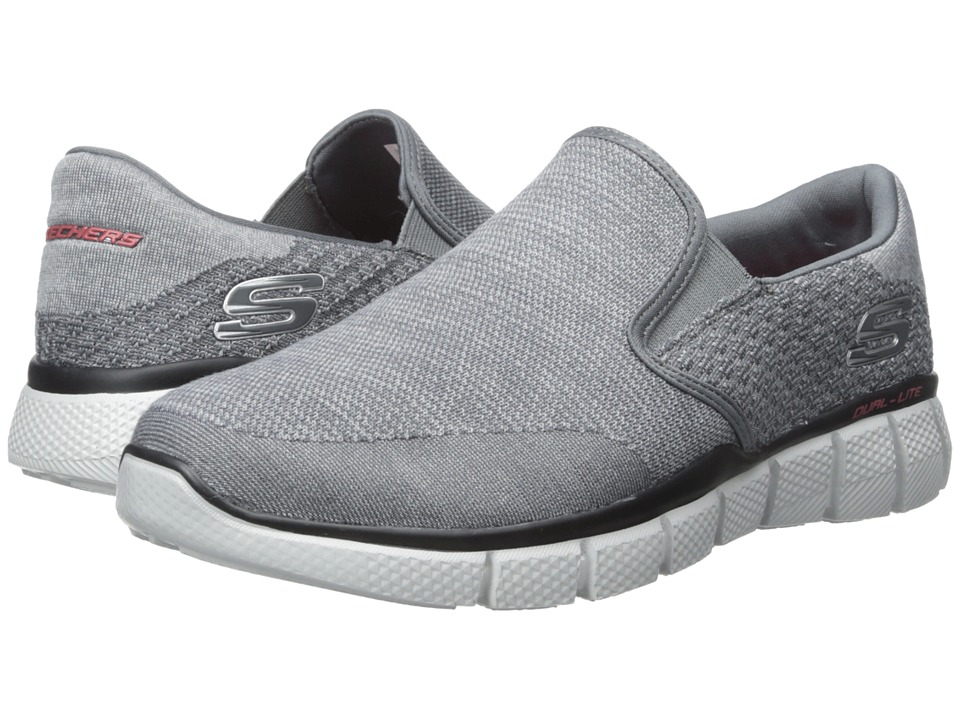 SKECHERS - Equalizer 2.0 (Charcoal/Red) Men's Shoes