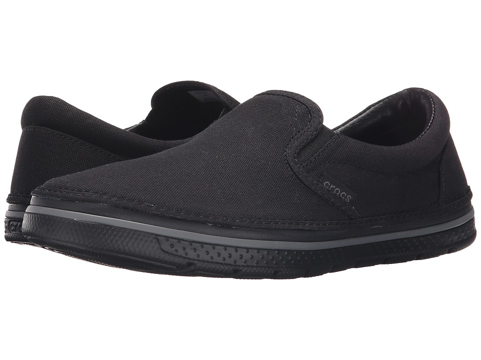 Crocs - Norlin Slip-On (Black/Black) Men's Slip on Shoes