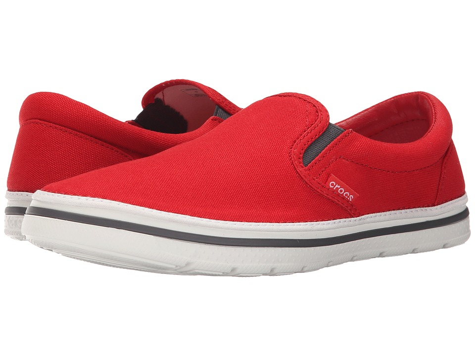 Crocs - Norlin Slip-On (Flame/White) Men's Slip on Shoes