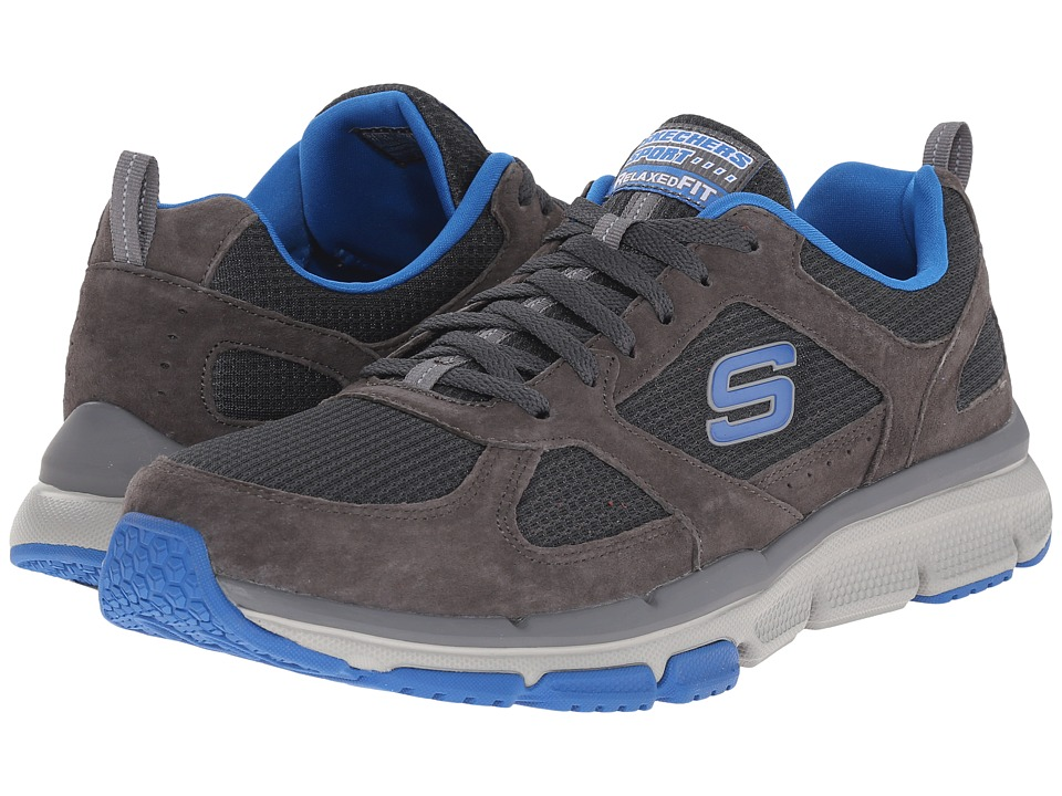 SKECHERS - Optimizer (Charcoal/Blue) Men's Shoes