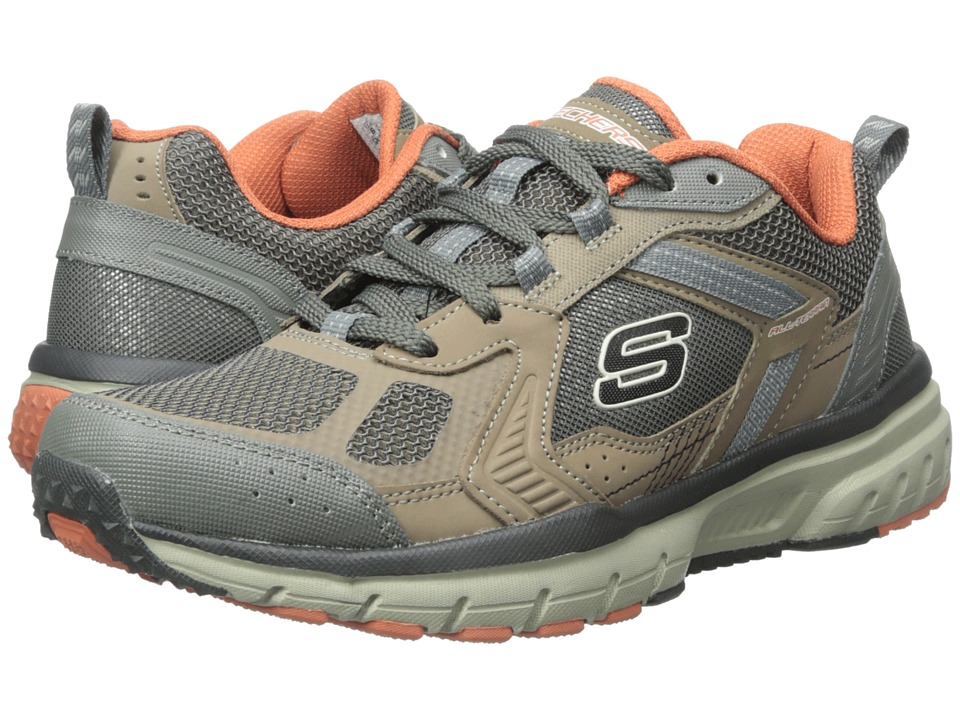 SKECHERS - Geo-Trek Pro Force (Brown/Orange) Men's Shoes