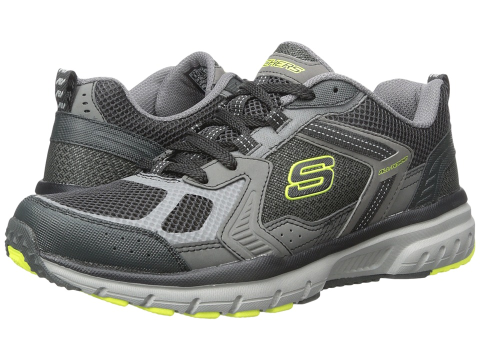 SKECHERS - Geo-Trek Pro Force (Charcoal/Lime) Men's Shoes