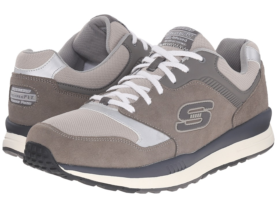 SKECHERS Direct Flight (Gray/Charcoal) Men