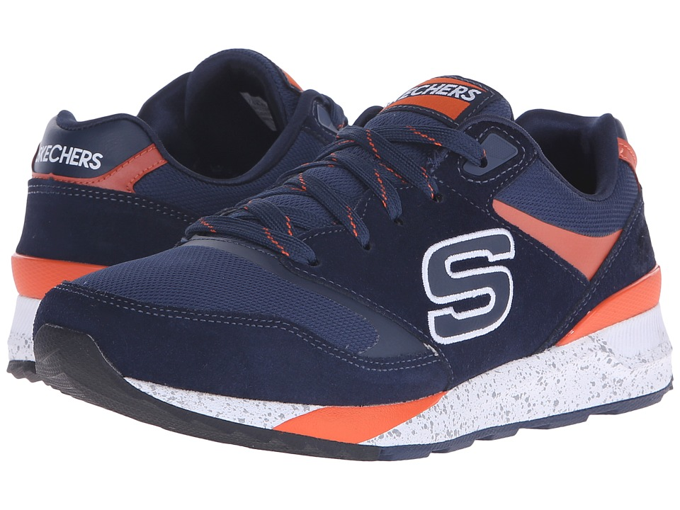 SKECHERS - OG 90 (Navy/Orange) Men's Shoes