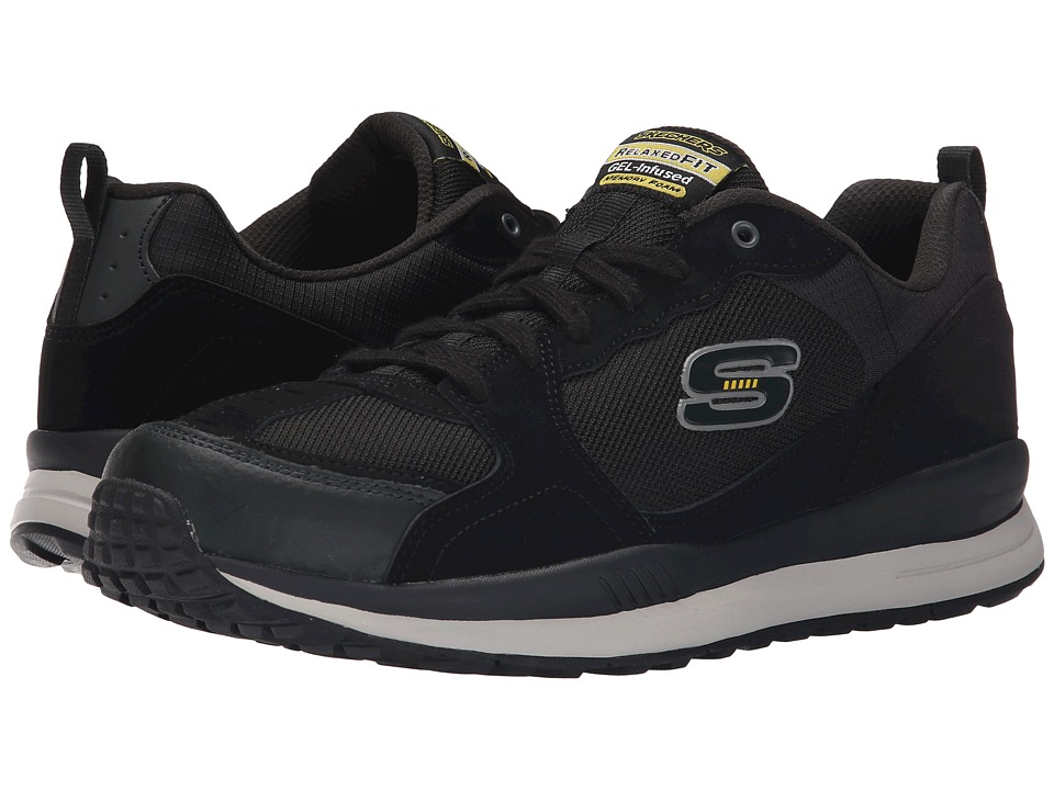 SKECHERS - Direct Flight One Way (Black/Yellow) Men's Shoes