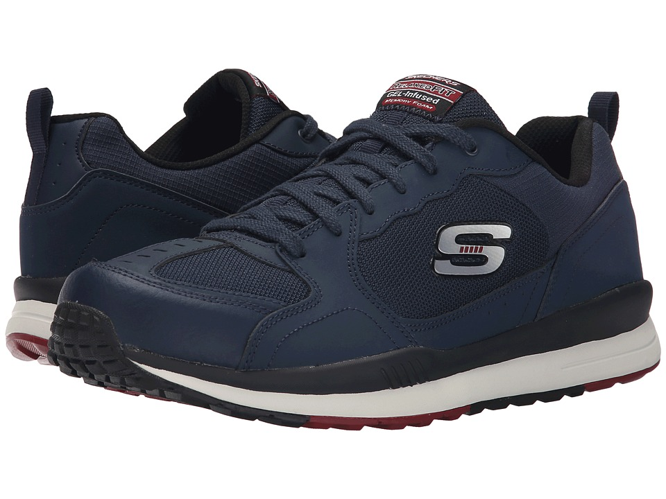 SKECHERS - Direct Flight One Way (Navy/Red) Men's Shoes