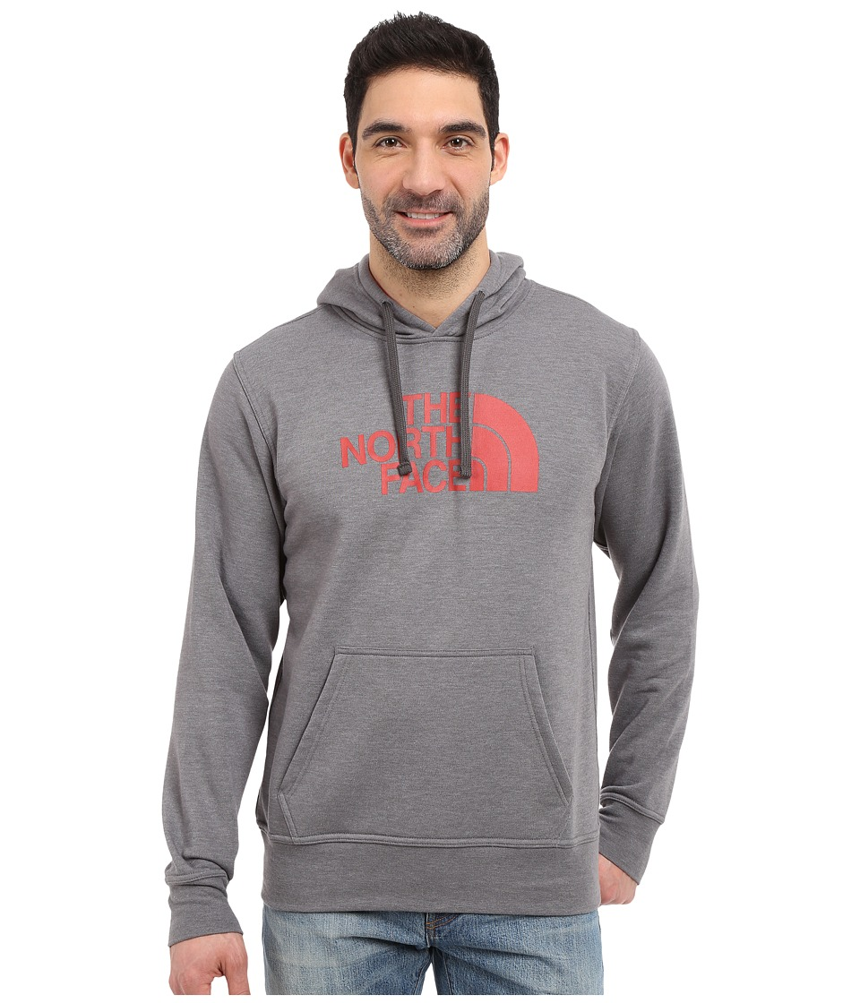 The North Face - Half Dome Hoodie (TNF Medium Grey Heather/Pompeian Red) Men's Long Sleeve Pullover