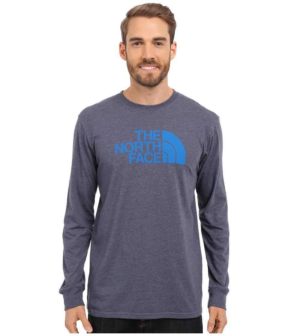 The North Face - Long Sleeve Half Dome Tee (Cosmic Blue Heather/Bomber Blue) Men's T Shirt