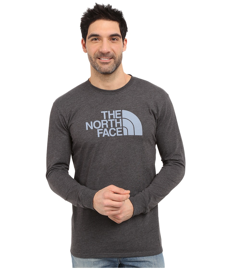 The North Face - Long Sleeve Half Dome Tee (TNF Dark Grey Heather/Faded Denim) Men's T Shirt