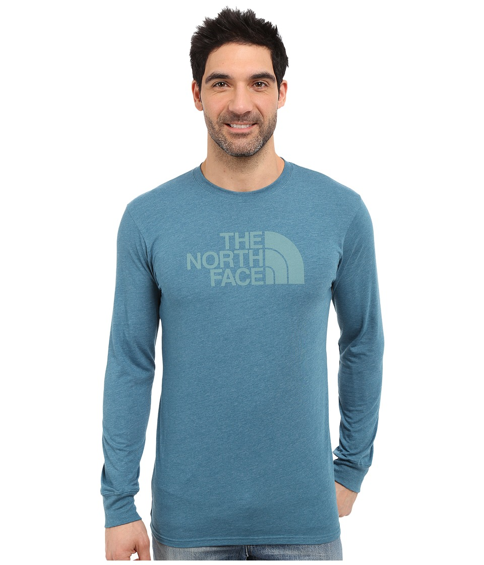 The North Face Long Sleeve Half Dome Tee (Blue Coral Heather/Mineral Blue) Men