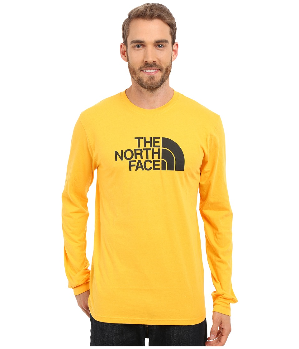 The North Face - Long Sleeve Half Dome Tee (Citrus Yellow/Asphalt Grey) Men's T Shirt