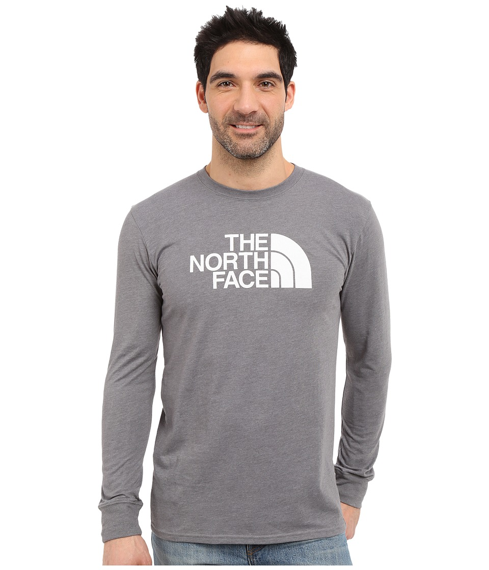 The North Face - Long Sleeve Half Dome Tee (TNF Medium Grey Heather/TNF White) Men's T Shirt