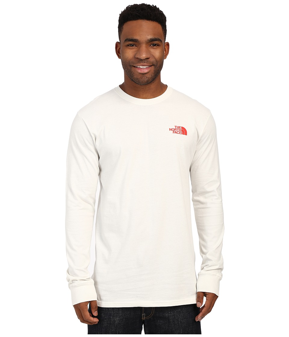 The North Face - Long Sleeve Red Box Tee (Vaporous Grey/Fiery Red) Men's Long Sleeve Pullover