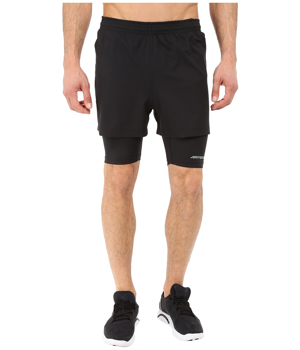 Under Armour - UA Launch Racer 2-in-1 Shorts (Black/Black/Reflective) Men's Workout