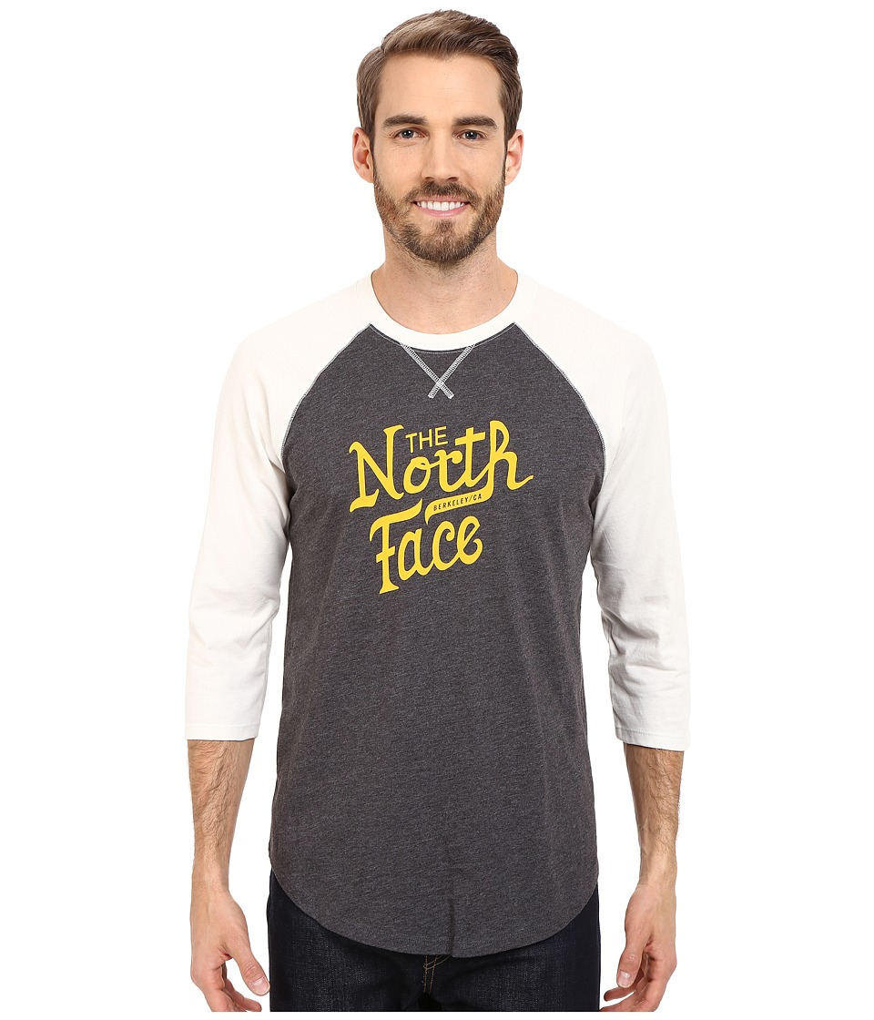The North Face 3/4 Sleeve Alpine Varsity Club Tee (TNF Dark Grey Heather) Men