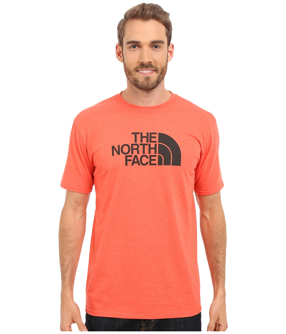 The North Face - Short Sleeve Half Dome Tee (Fiery Red Heather/Asphalt Grey) Men