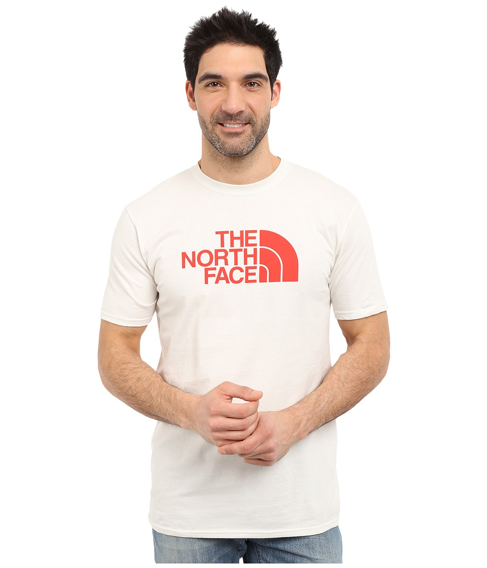 The North Face - Short Sleeve Half Dome Tee (Vaporous Grey/Fiery Red) Men